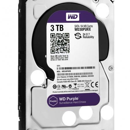 هارد وسترن دیجیتال مدل Purple (بنفش) 3ترابایت