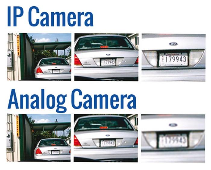 تفاوت کیفیت دوربین مدار بسته IP و Analog